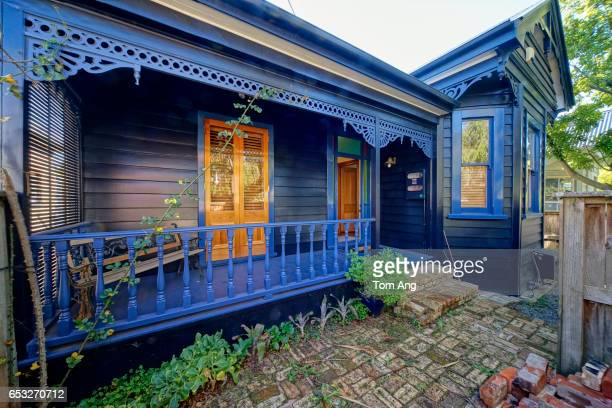 Characteristic New Zealand 19th century wooden villa