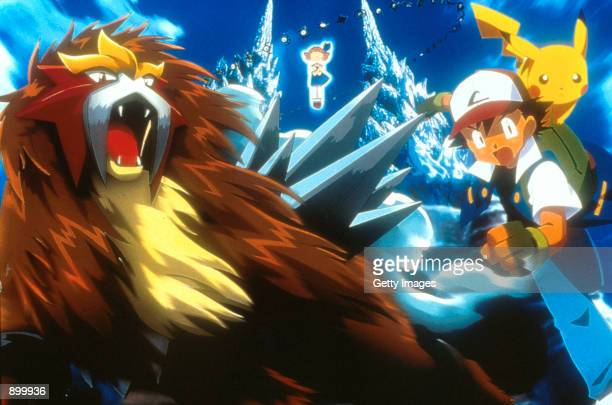 Character's Entei Molly Ash and Pikachu in 4Kids Entertainment's animated adventure 'Pokemon3' distributed by Warner Bros Pictures