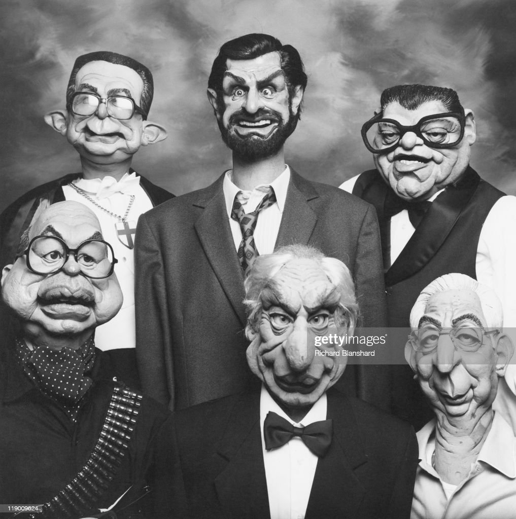 Characters from the satirical British puppet show 'Spitting Image', circa 1985. They include Italian politicians <a gi-track='captionPersonalityLinkClicked' href=/galleries/search?phrase=Giulio+Andreotti&family=editorial&specificpeople=221669 ng-click='$event.stopPropagation()'>Giulio Andreotti</a>, Giovanni Goria, <a gi-track='captionPersonalityLinkClicked' href=/galleries/search?phrase=Bettino+Craxi&family=editorial&specificpeople=241513 ng-click='$event.stopPropagation()'>Bettino Craxi</a> and Italian President <a gi-track='captionPersonalityLinkClicked' href=/galleries/search?phrase=Francesco+Cossiga&family=editorial&specificpeople=642291 ng-click='$event.stopPropagation()'>Francesco Cossiga</a>.