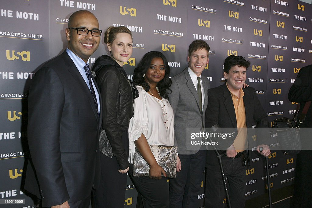 UNITE -- 'Characters Unite/Moth Storytelling Event in LA on Wednesday, February 15, 2012' -- Pictured: (l-r) Tim King, Aimee Mullins, Octavia Spencer, Dustin Lance Black, Greg Walloch --