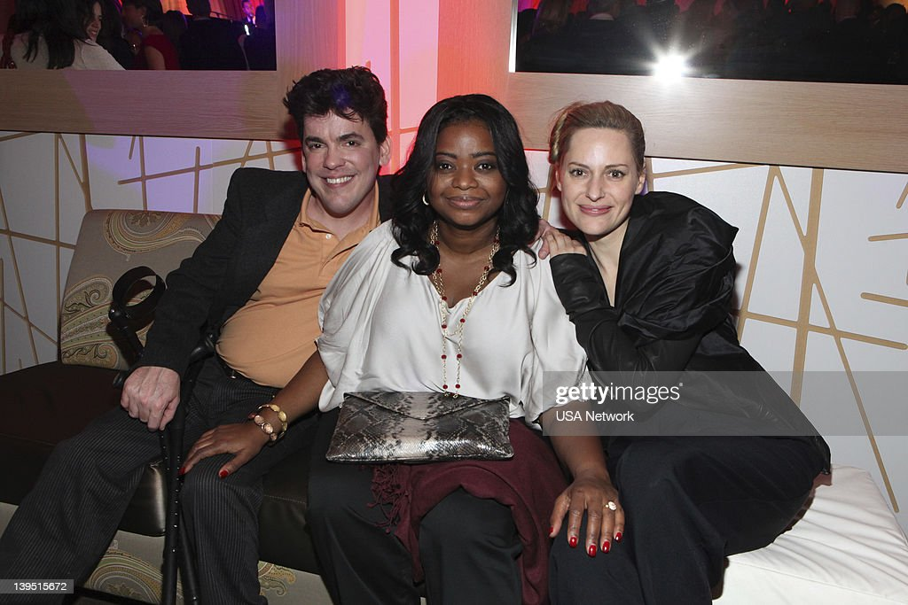 UNITE -- 'Characters Unite/Moth Storytelling Event in LA on Wednesday, February 15, 2012' -- Pictured: (l-r) Greg Walloch, Octavia Spencer, Aimee Mullins --