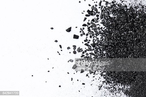 charcoal isolated on white background : Stock Photo