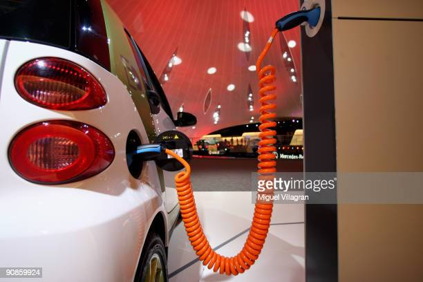 A charging device for a SMART electric car is pictured at the international motor show IAA on September 16 2009 in Frankfurt am Main GermanyThe...
