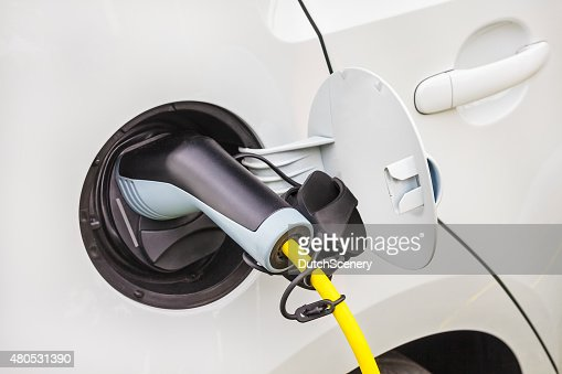 Charging of an electric car : Stockfoto