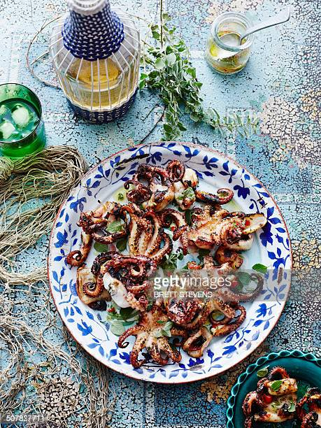 Chargrilled lemon oregano octopus