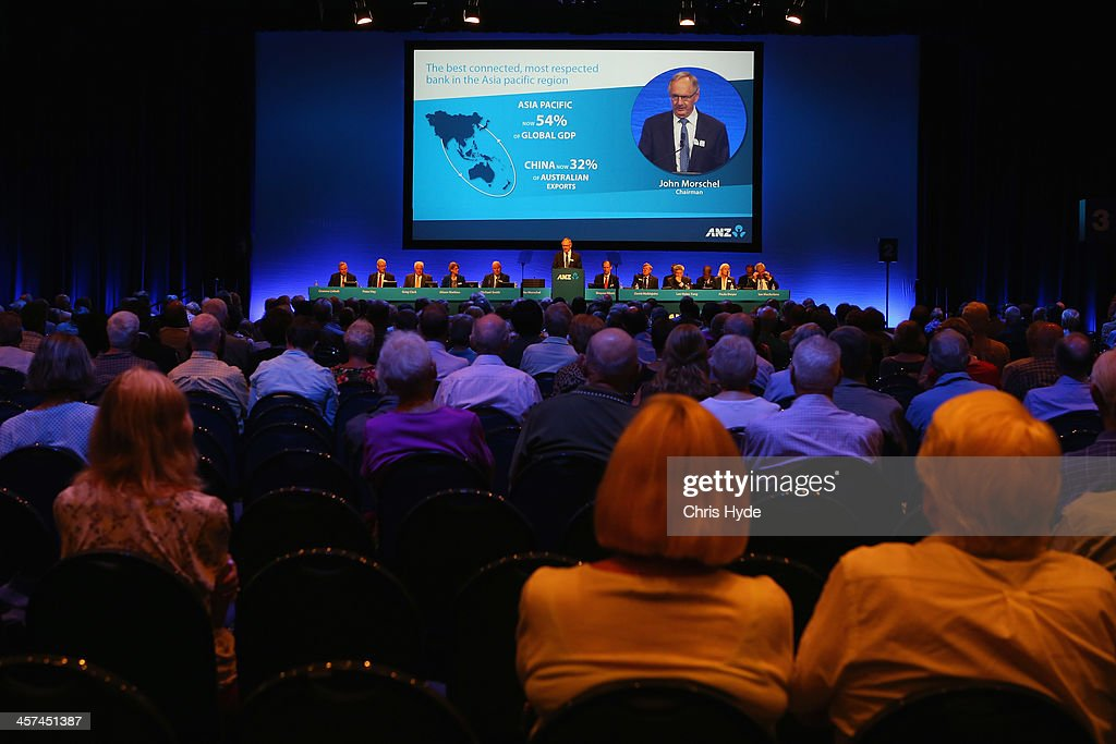Chariman John Morschel talks during ANZ Annual General Meeting at the Brisbane Convention & Exhibition Centre on December 18, 2013 in Brisbane, Australia.