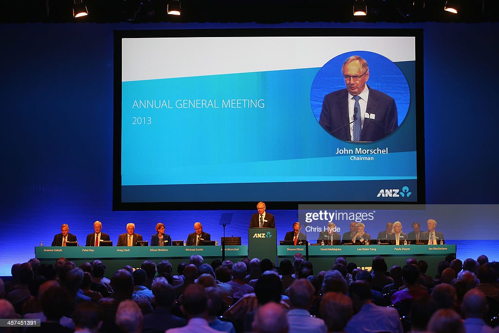 Chariman John Morschel talks during ANZ Annual General Meeting at the Brisbane Convention & Exhibition Centre on December 18, 2013 in Brisbane, Australia.