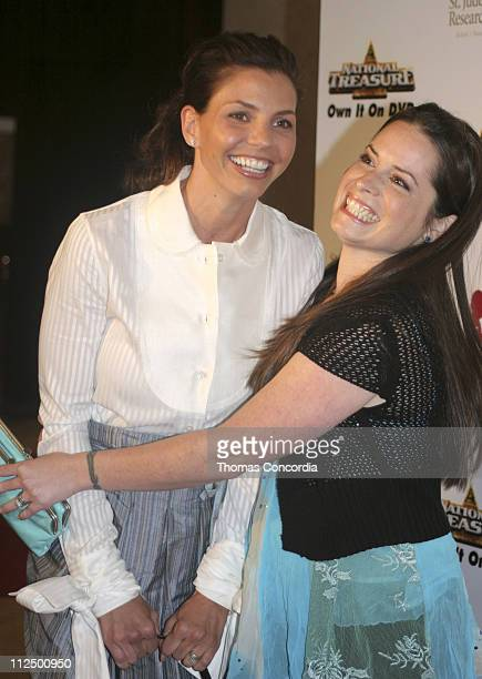 Charisma Carpenter and Holly Marie Combs during 3rd Annual Runway For Life Benefiting St Jude Children's Research Hospital Red Carpet at Beverly...