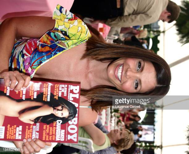 Charisma Carpenter during Charisma Carpenter Celebrates her June 2004 Playboy Cover at Playboy Mansion in Bel Air California United States