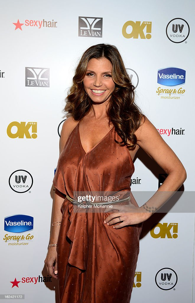 Charisma Carpenter steps on the red carpet at OK! Magazine Pre-Oscar Party at The Emerson Theatre on February 22, 2013 in Hollywood, California.