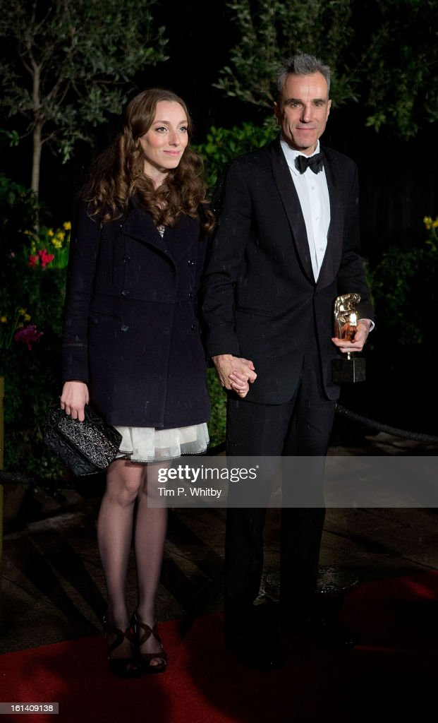 Charissa Shearer and Daniel Day Lewis attend the after party for the EE British Academy Film Awards at Grosvenor House, on February 10, 2013 in London, England.