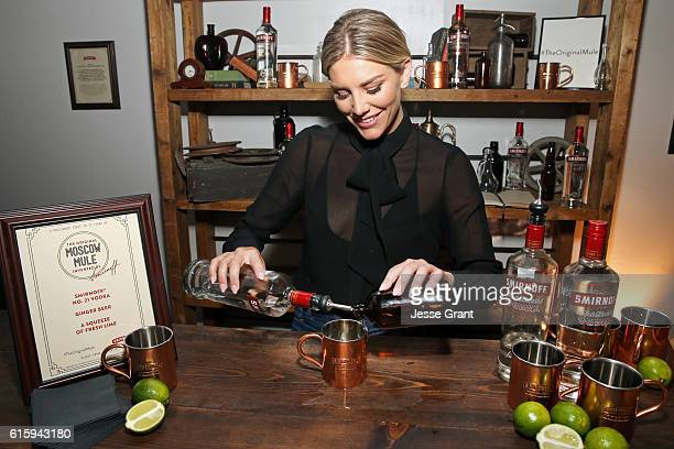 Charissa Thompson celebrates the 75th anniversary of the Moscow Mule by serving the original mule created with SMIRNOFF vodka in 1941 at an event on...