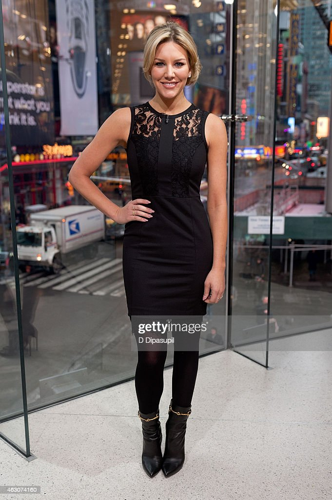 Charissa Thompson hosts 'Extra' at their New York studios at H&M in Times Square on February 9, 2015 in New York City.