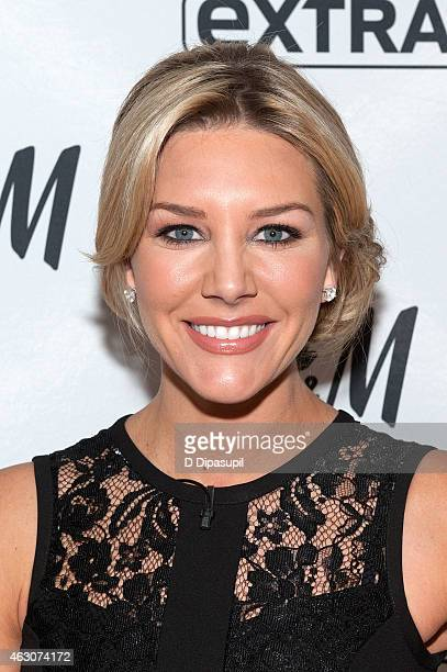 Charissa Thompson hosts 'Extra' at their New York studios at HM in Times Square on February 9 2015 in New York City