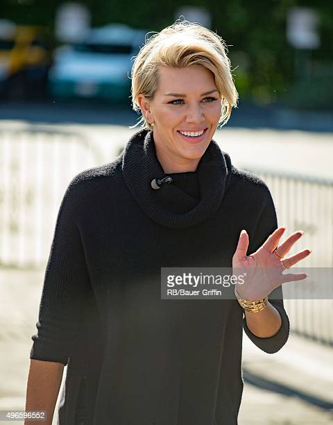 Charissa Thompson is seen at 'Extra' on November 10 2015 in Los Angeles California