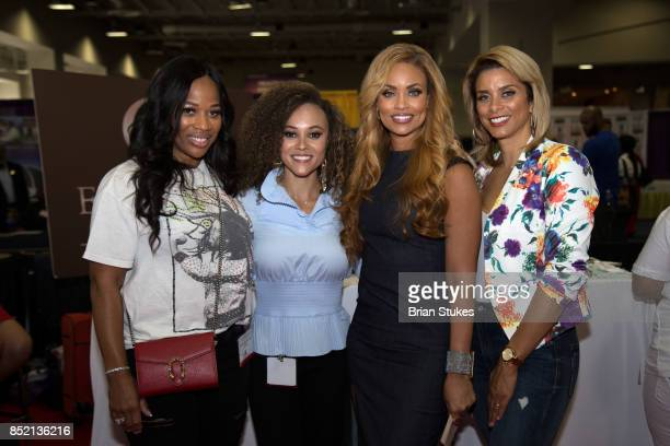 Charisse JordanJackson Ashley Boalch Durby Gizelle Bryant and Robyn Dixon attend 'Hue Beauty' during 47th Annual Legislative Conference Exhibit at...