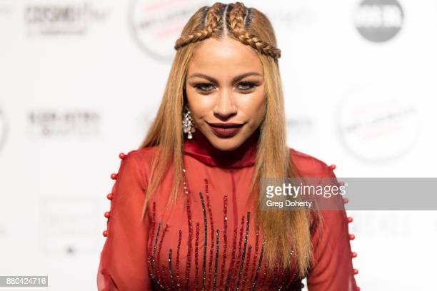 Charisse Mills attends the American Influencer Award at The Novo by Microsoft on November 18 2017 in Los Angeles California