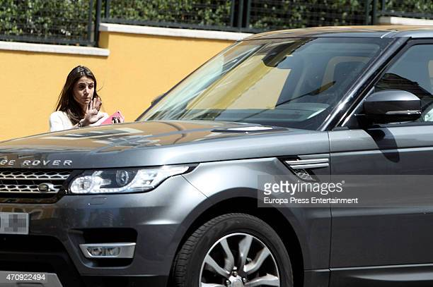 Charito's girlfriend Lucia Villalon is seen on April 23 2015 in Madrid Spain