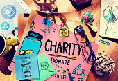 Charity Donate Help Give Saving Sharing Support Volunteer Concept