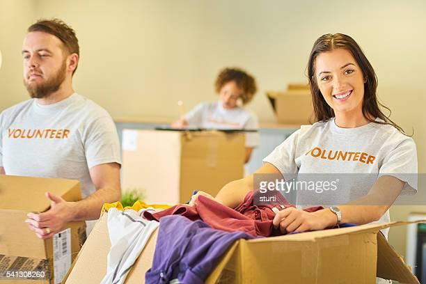 Trabajo voluntario para beneficencia