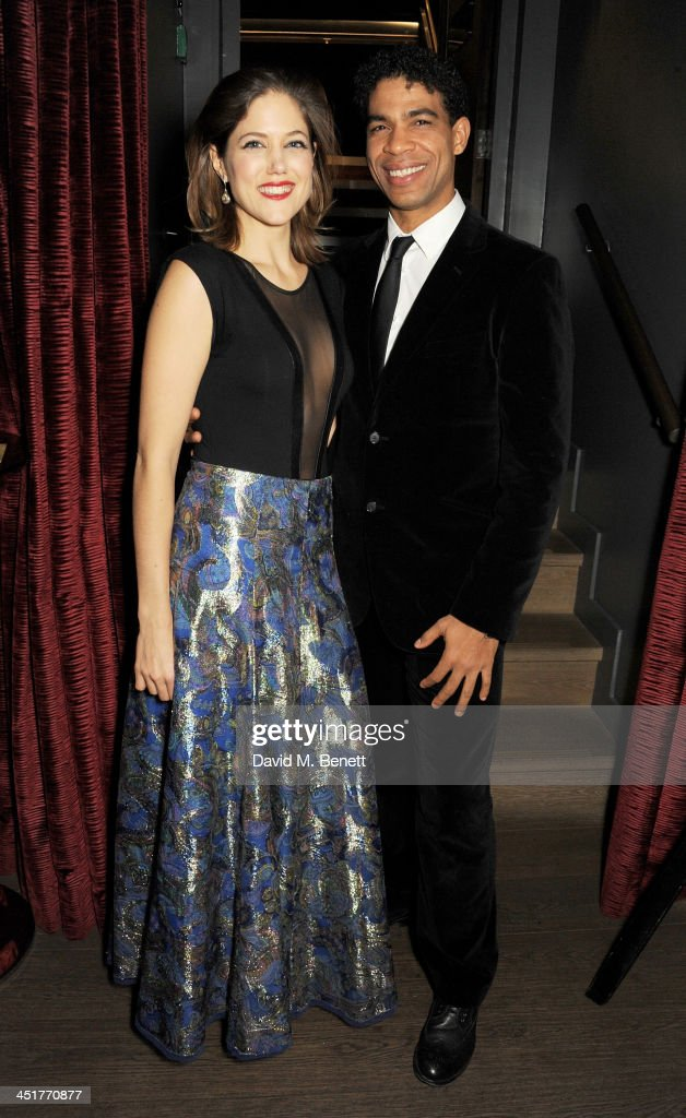 Charity Wakefield (L) and <a gi-track='captionPersonalityLinkClicked' href=/galleries/search?phrase=Carlos+Acosta&family=editorial&specificpeople=642048 ng-click='$event.stopPropagation()'>Carlos Acosta</a> attend an after party celebrating the UK Premiere of 'Day Of The Flowers' at The Mayfair Hotel on November 24, 2013 in London, England.