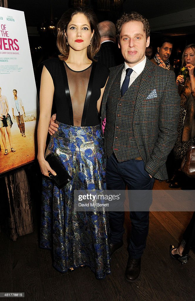 Charity Wakefield (L) and David Newman attend an after party celebrating the UK Premiere of 'Day Of The Flowers' at The Mayfair Hotel on November 24, 2013 in London, England.