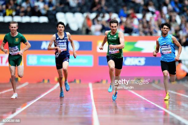 Charl Du Toit of South Africa Valentin Bertrand of France Paul Keogan of Ireland and Sajjad Alwahhah of Iraq compete in round one heat two of the...