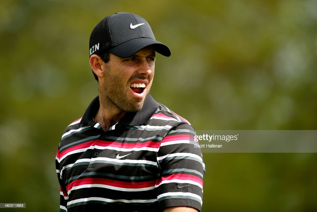 <a gi-track='captionPersonalityLinkClicked' href=/galleries/search?phrase=Charl+Schwartzel&family=editorial&specificpeople=213793 ng-click='$event.stopPropagation()'>Charl Schwartzel</a> of South Africa looks on during the pro-am prior to the start of the Shell Houston Open at the Golf Club of Houston on April 2, 2014 in Humble, Texas.