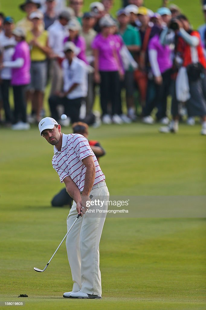 Charl Schwartzel of South Africa plays a shot during round four of the Thailand Golf Championship at Amata Spring Country Club on December 9, 2012 in Bangkok, Thailand.