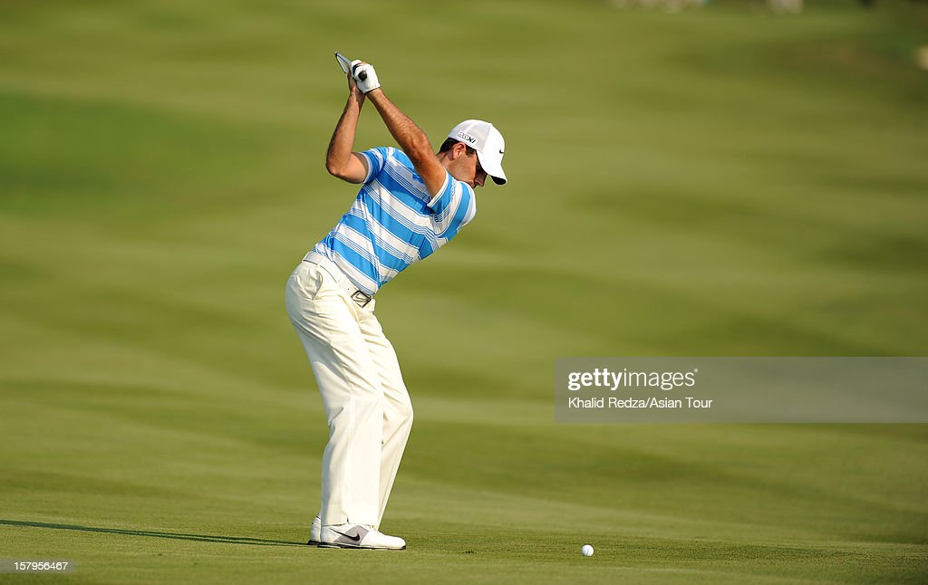 Charl Schwartzel of South Africa plays a shot during round three of the Thailand Golf Championship at Amata Spring Country Club on December 8, 2012 in Bangkok, Thailand.