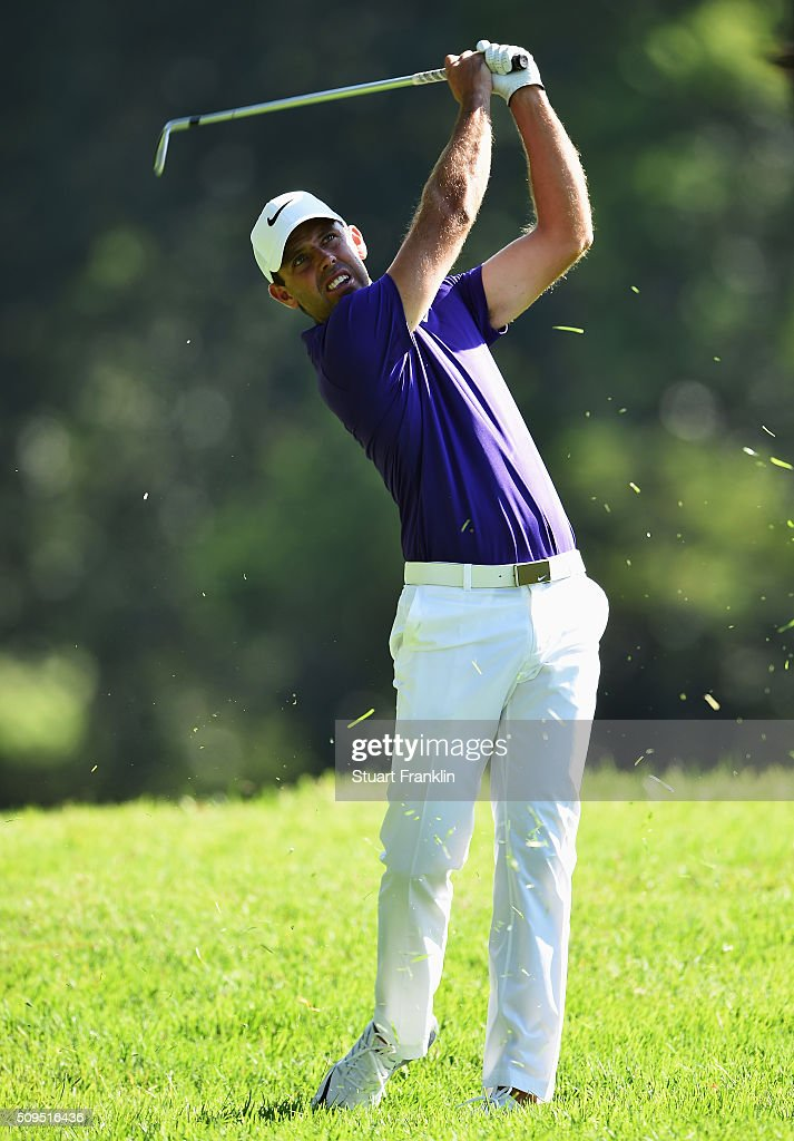 <a gi-track='captionPersonalityLinkClicked' href=/galleries/search?phrase=Charl+Schwartzel&family=editorial&specificpeople=213793 ng-click='$event.stopPropagation()'>Charl Schwartzel</a> of South Africa plays a shot during the first round of the Tshwane Open at Pretoria Country Club on February 11, 2016 in Pretoria, South Africa.