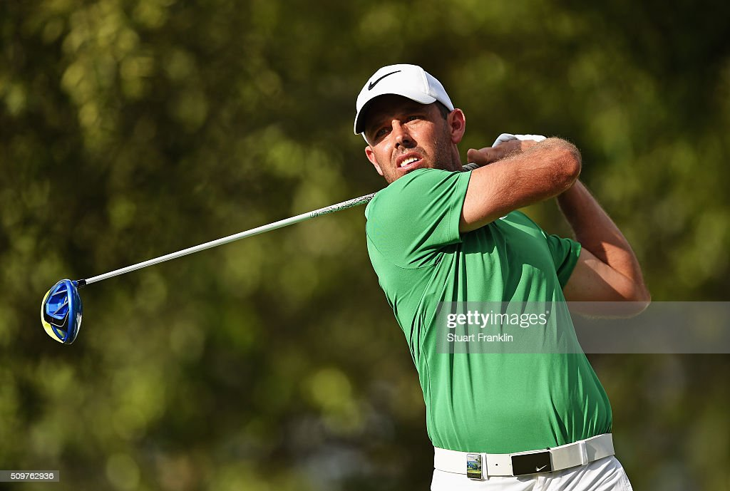 <a gi-track='captionPersonalityLinkClicked' href=/galleries/search?phrase=Charl+Schwartzel&family=editorial&specificpeople=213793 ng-click='$event.stopPropagation()'>Charl Schwartzel</a> of South Africa plays a shot during the second round of the Tshwane Open at Pretoria Country Club on February 12, 2016 in Pretoria, South Africa.