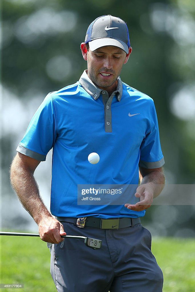 Charl Schwartzel of South Africa putts during a practice round prior to the start of the 96th PGA Championship at Valhalla Golf Club on August 4, 2014 in Louisville, Kentucky.