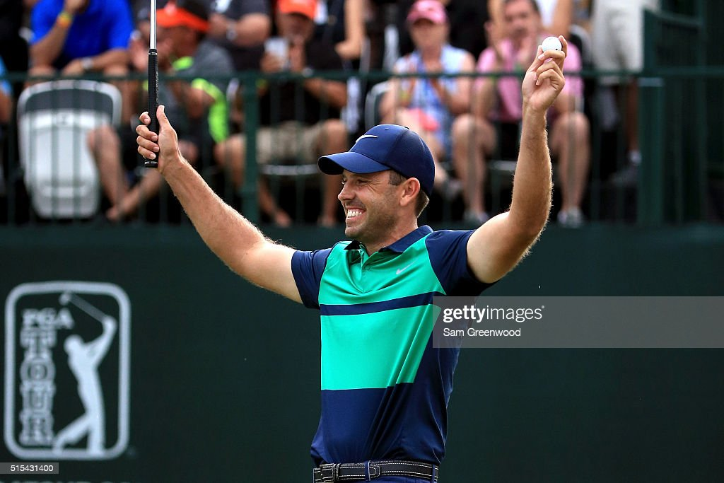 <a gi-track='captionPersonalityLinkClicked' href=/galleries/search?phrase=Charl+Schwartzel&family=editorial&specificpeople=213793 ng-click='$event.stopPropagation()'>Charl Schwartzel</a> of South Africa reacts after a putt on the first playoff hole on the 18th green to win the Valspar Championship during the final round at Innisbrook Resort Copperhead Course on March 13, 2016 in Palm Harbor, Florida.