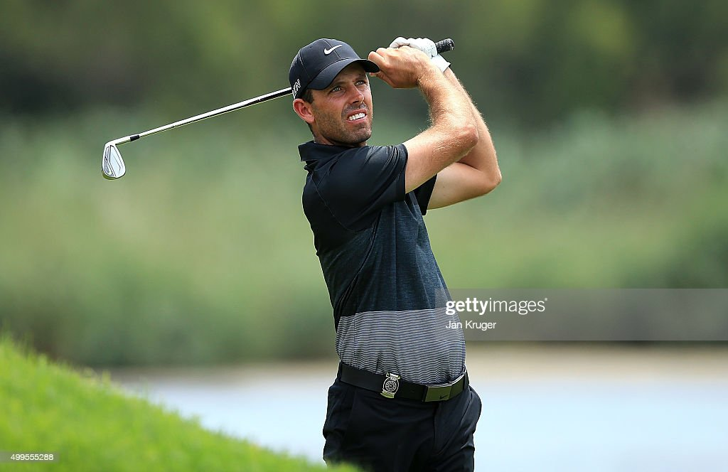 <a gi-track='captionPersonalityLinkClicked' href=/galleries/search?phrase=Charl+Schwartzel&family=editorial&specificpeople=213793 ng-click='$event.stopPropagation()'>Charl Schwartzel</a> of South Africa takes part in a practise session ahead of the Nedbank Golf Challenge at Gary Player CC on December 2, 2015 in Sun City, South Africa.