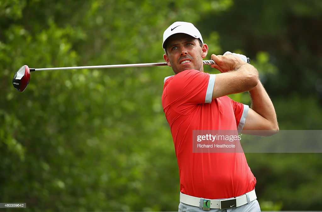 <a gi-track='captionPersonalityLinkClicked' href=/galleries/search?phrase=Charl+Schwartzel&family=editorial&specificpeople=213793 ng-click='$event.stopPropagation()'>Charl Schwartzel</a> of South Africa tee's off at the 17th during the second round of the Alfred Dunhill Championship at Leopard Creek Country Golf Club on December 12, 2014 in Malelane, South Africa.