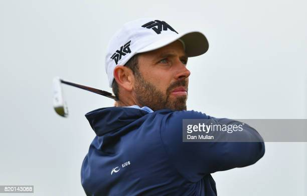 Charl Schwartzel of South Africa tees off on the 11th hole during the second round of the 146th Open Championship at Royal Birkdale on July 21 2017...