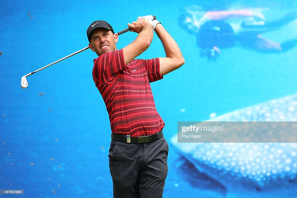 <a gi-track='captionPersonalityLinkClicked' href=/galleries/search?phrase=Charl+Schwartzel&family=editorial&specificpeople=213793 ng-click='$event.stopPropagation()'>Charl Schwartzel</a> of South Africa watches his tee shot on the 5th hole during day three of the 2014 Perth International at Lake Karrinyup Country Club on October 25, 2014 in Perth, Australia.