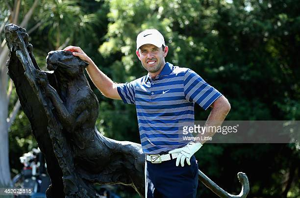 Charl Schwartzel of South Arica poses ahead of the Alfred Dunhill Championship at Leopard Creek Country Club on November 26 2013 in Malelane South...