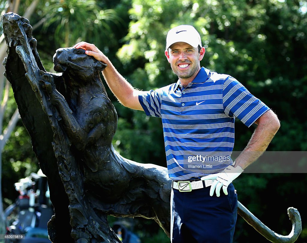 Charl Schwartzel of South Arica poses ahead of the Alfred Dunhill Championship at Leopard Creek Country Club on November 26, 2013 in Malelane, South Africa.