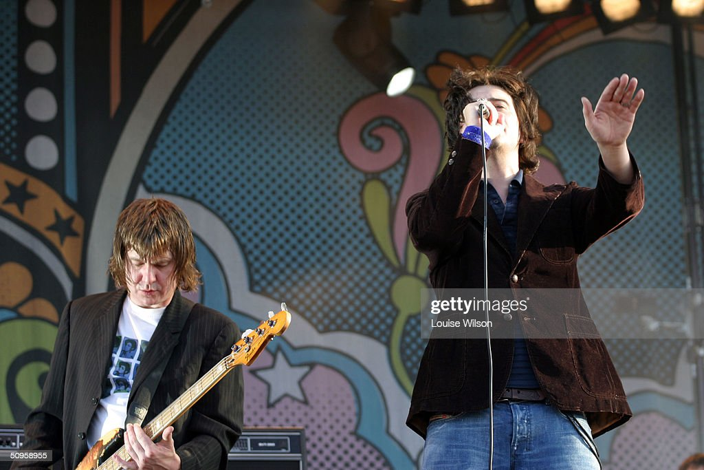 Charlatans perform onstage during the third and final day of 'The Nokia Isle of Wight Festival 2004' at Seaclose Park on June 13, 2004 in Newport, Isle of Wight, UK. The third annual rock festival takes place during the Isle of Wight Festival which runs from June 4-19.