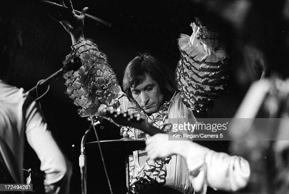 Charle Watts of the Rolling Stones is photographed on stage in 1972 in Seattle Washington CREDIT MUST READ Ken Regan/Camera 5 via Contour by Getty...