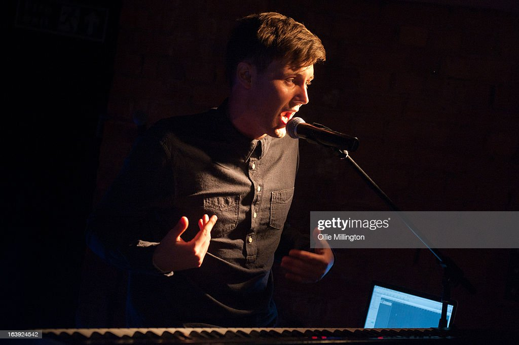 performs a one off hometown show showcaseing material from his next EP on stage at The Crumblin' Cookie on March 2, 2013 in Leicester, England.