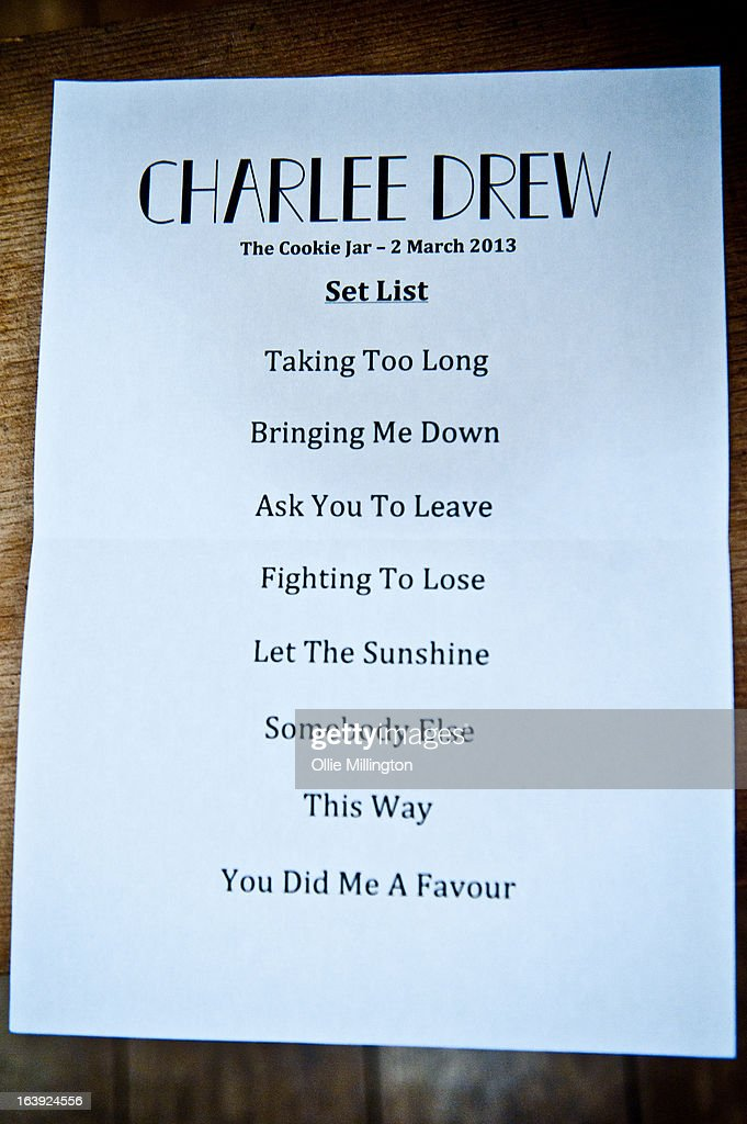 Charlee Drew (Setlist) performs a one off hometown show showcaseing material from his next EP on stage at The Crumblin' Cookie on March 2, 2013 in Leicester, England.
