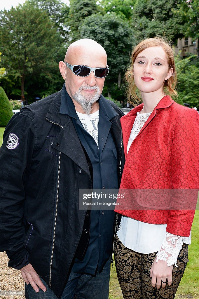 CharlElie Couture and his daughter Yamee attend the Frank Sorbier show as part of Paris Fashion Week Haute-Couture Fall/Winter 2013-2014 at Hotel De Bezenval on July 3, 2013 in Paris, France.