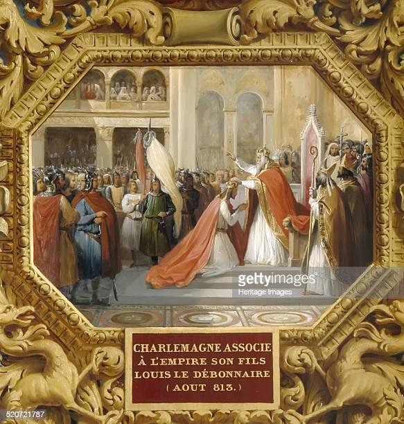 Charlemagne crowns his son Louis the Pious in 813 Found in the collection of Musée de l'Histoire de France Château de Versailles