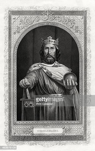 Charlemagne king of the Franks 1875 Charlemagne was crowned Christian Emperor of the West in St Peter's Cathedral Rome on Christmas Day 800 AD