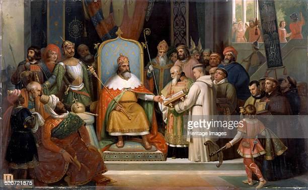 Charlemagne receives Alcuin 780 Found in the collection of Musée de l'Histoire de France Château de Versailles