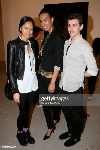 Charlene Almarvez Megan Dack and Hector Soriano attend 'The Transformation of ENRIQUE MIRON as El Diablo' by PAUL ROWLAND at 548 W 22nd St on April...