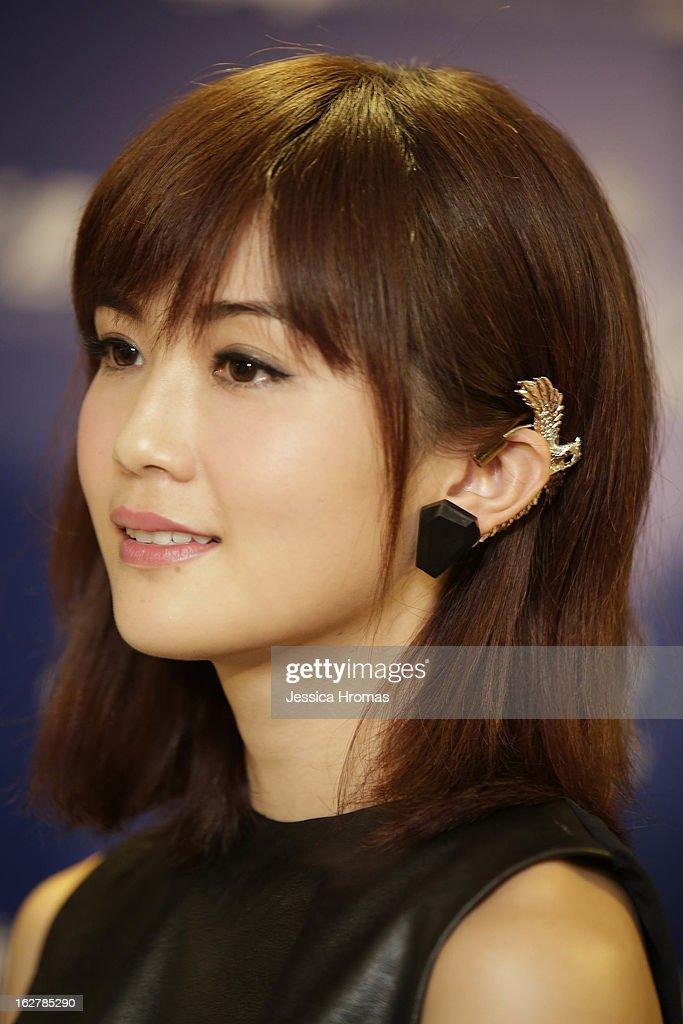Charlene Choi at the 2013 IFPI Hong Kong Top Sales Music Awards at Star Hall on February 26, 2013 in Hong Kong, Hong Kong.